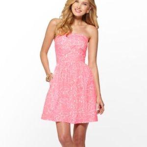 Lily Pulitzer Strapless Pink Chandie Dress